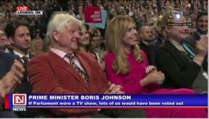 Prime Minister Boris Johnson Addresses Conservative Party Members at Party Conference
