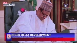 President Buhari Writes Nigerian Senate over Dissolution of NDDC