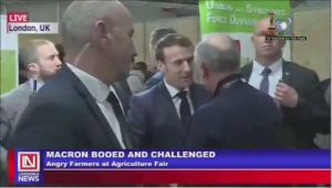 Angry Farmers Boo President Macron on a Visit