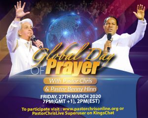 Pastors Chris and Benny Hinn Host Global Day of Prayer for Christians Worldwide
