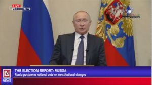 Russia: President Putin Postpones National Vote on Constitutional Changes Amid Coronavirus Pandemic