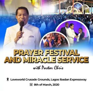 Thousands to Join Pastor Chris for Prayer Festival & Miracle Service in Lagos