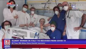 95-Year Old Italian Grand Mother Recovers from COVID-19