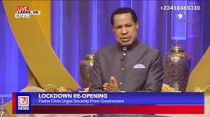 COVID-19: Pastor Chris Calls for Sincerity by   Government Authorities in Opening Hospitals, Others
