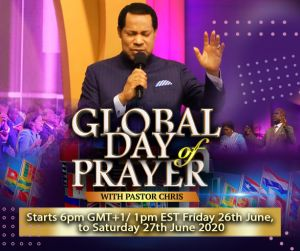 Pastor Chris Calls Christians Around the World to Unite in Prayer on June 26