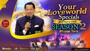 'Your LoveWorld Specials with Pastor Chris' Season 2, Phase 2 Set to Impact Many