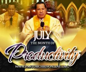 Pastor Chris Declares July to be 'the Month of Productivity' at Global Service