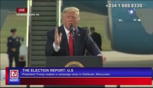 US Elections: President Trump Makes Campaign Stop at Oshkosh
