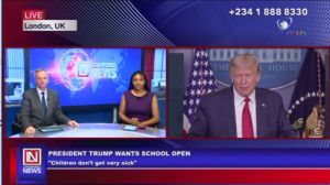Trump Calls for Schools to Reopen in the U.S.