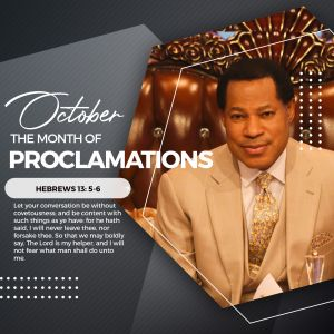 October is 'the Month of Proclamations' Pastor Chris Announces at Global Service
