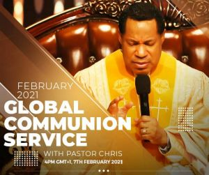 Join Pastor Chris for February, 2021 Global Communion Service