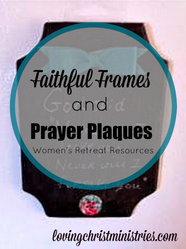 These Faithful Frames and Prayer Plaques turn out beautifully and are super easy to do. Perfect for your next small group gathering or women's retreat.