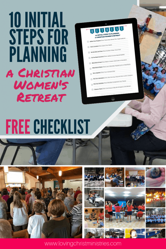 collage of women's retreats with title text overlay - Plan a Women's Retreat