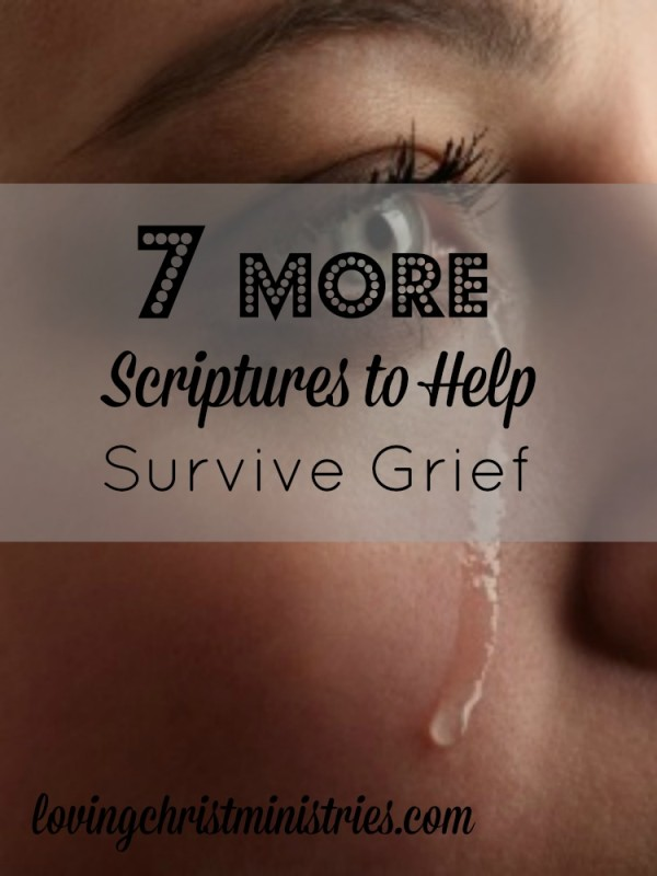 Turn to scripture and God's promise when trying to survive grief. Here are 7 more scriptures to help when you're grieving.