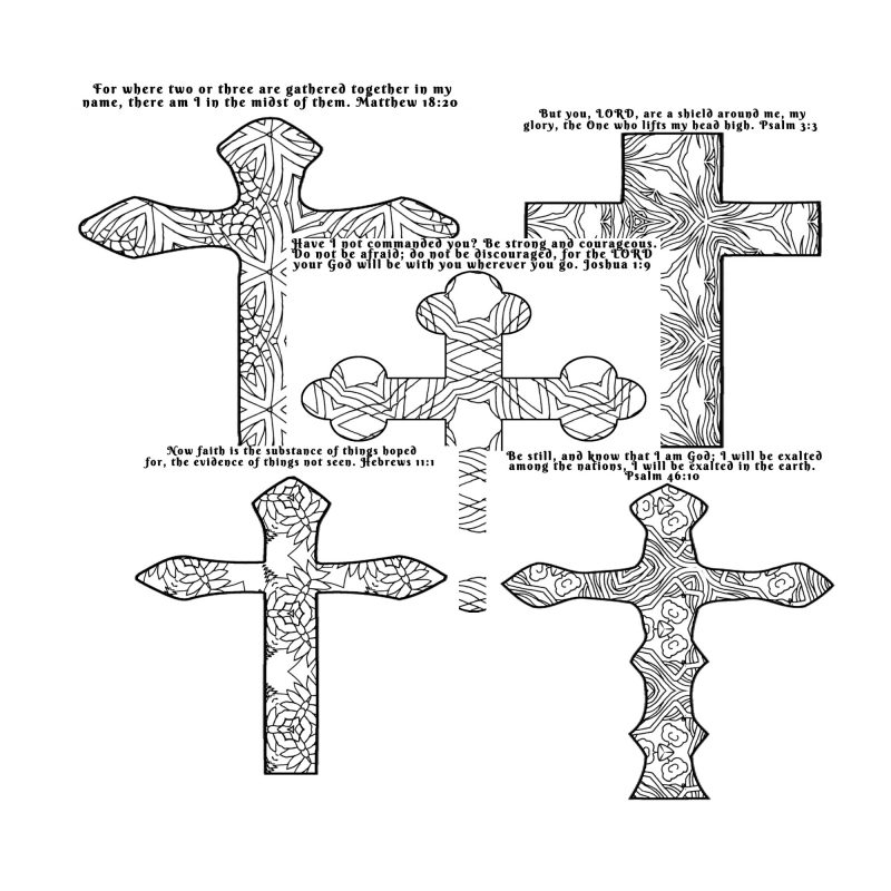 Give The Ladies At Your Womens Ministry Retreat Or Small Group A Chance To Quiet Their These Coloring Crosses Pages