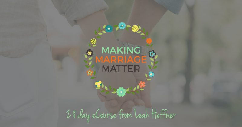 Making Marriage Matter