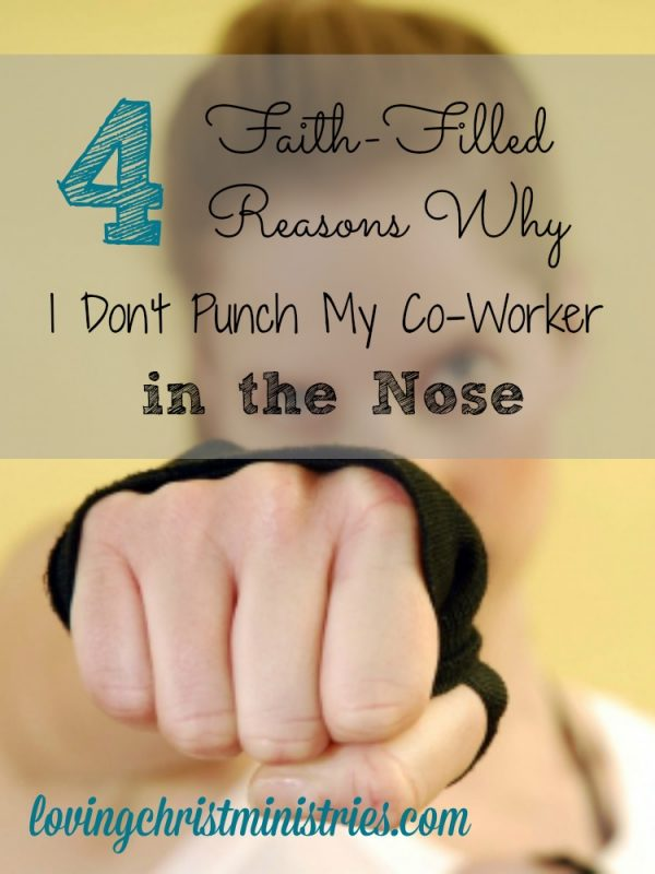 No punch nose! Promise! Here's my humorous take on learning to deal with difficult people with the same grace God extends to us.