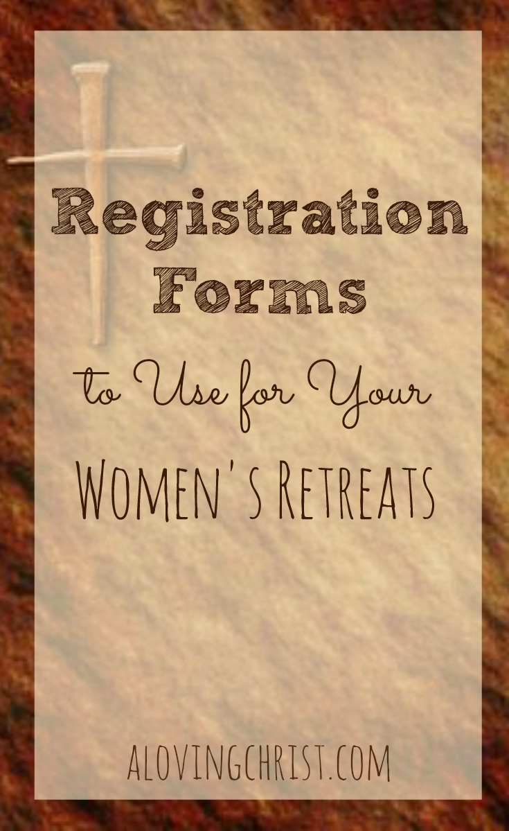 Christian Women's Retreat Registration Forms
