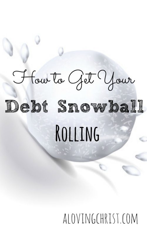 If you want to get your debt snowball rolling, you just have to pack that 'snow' together and start throwing. Be consistent and become debt-free!