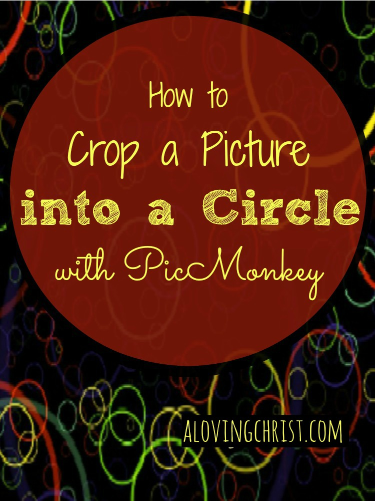 You can crop a picture into a circle for your blog or printables easily. Follow this simple video tutorial to learn how in PicMonkey.