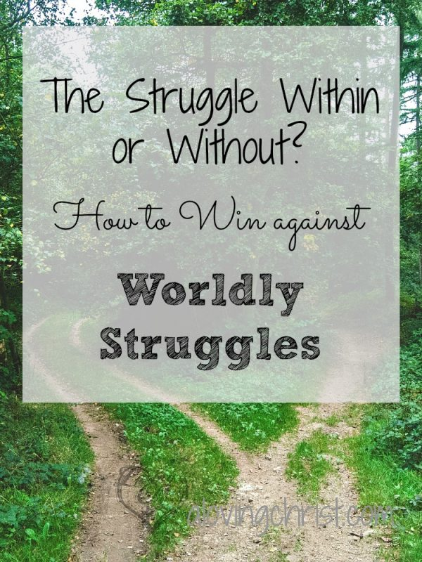 Is your struggle within you or without? Impatience? Worry? Insecurity? Where do they come from? Here's how to win against worldly struggles.