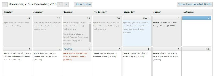 Scheduling Faith Blog Posts with the WordPress Editorial Calendar