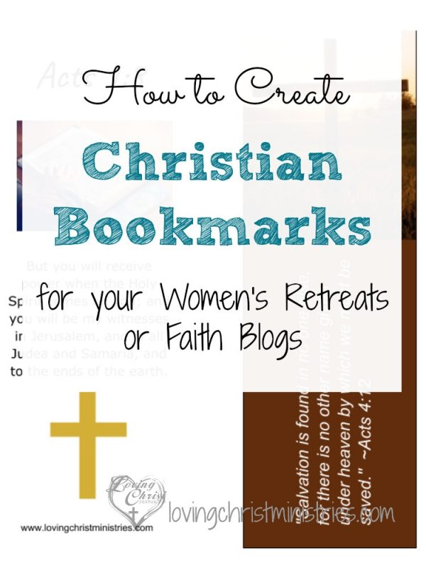 Learn how to create custom christian bookmarks for yourself, to give as gifts, or to offer as free printables on your blog. These bookmarks are fun and simple to make.