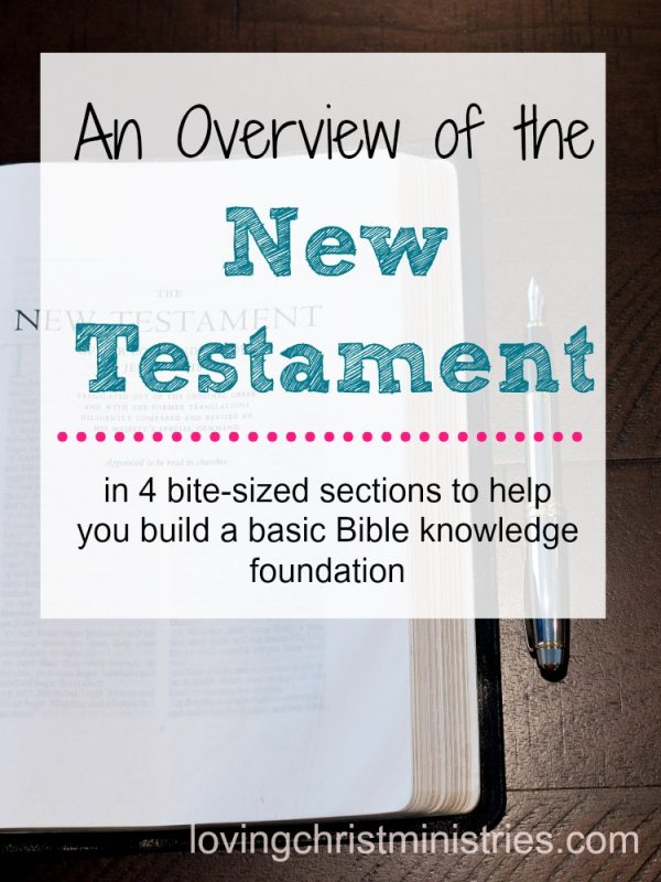 Image of Bible opened to New Testament with title text overlay