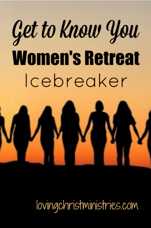This 'Get to Know You' activity is a super fun women's retreat icebreaker. Read about here and grab the free printable questions that go along with the game.