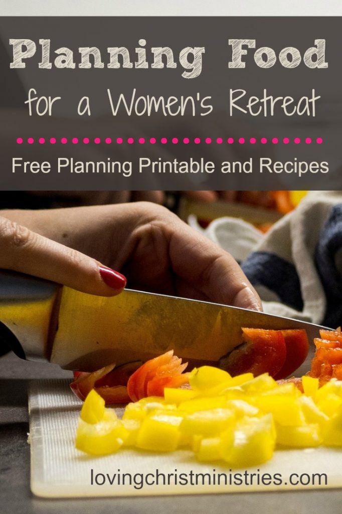 Planning food title overlayed on picture of woman chopping vegetables.