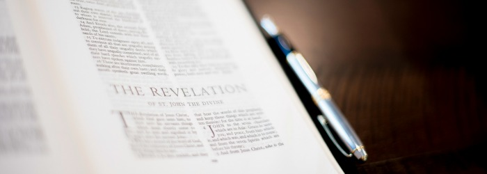 Image of Bible opened to Revelation