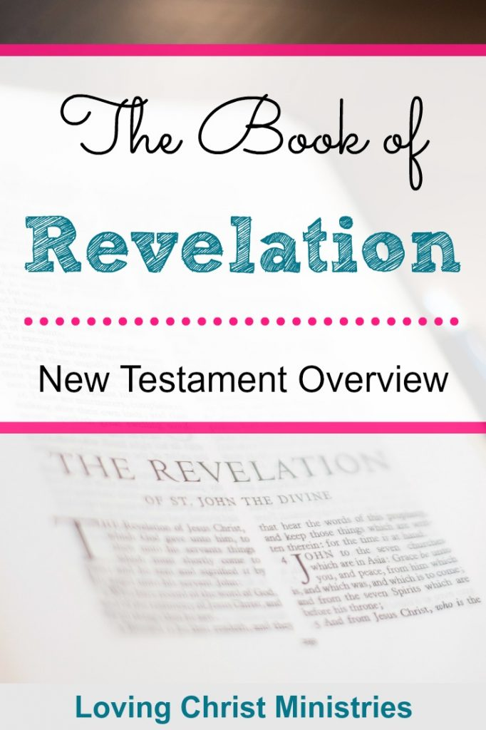 Image of Bible opened to Revelation with title text overlay