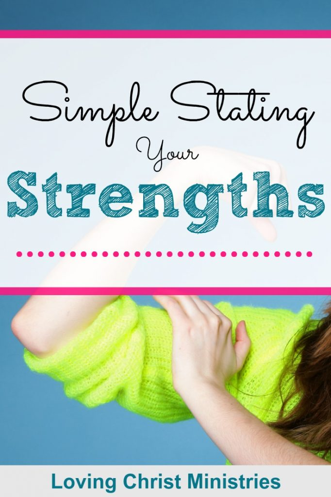 Image of woman flexing muscle with title text overlay