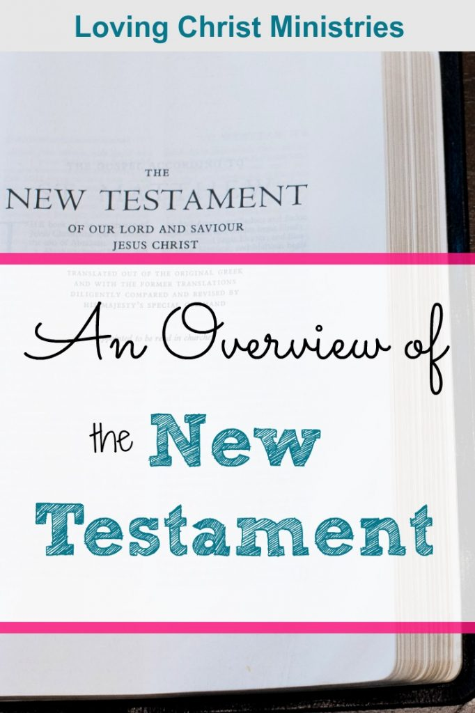 Image of the New Testament with title text overlay