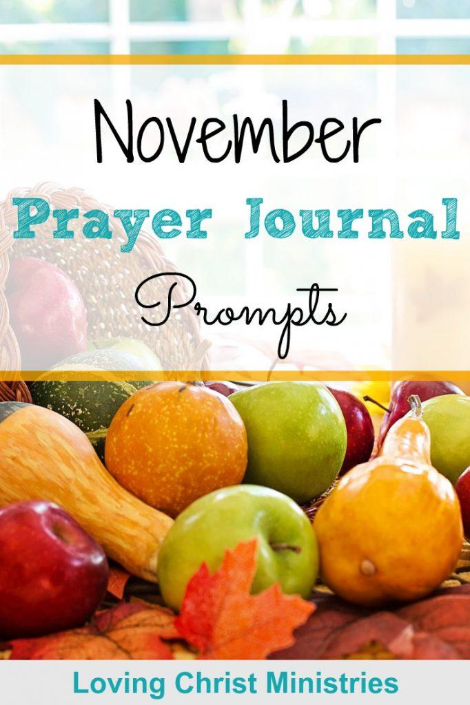 November Prayer Journal Prompts