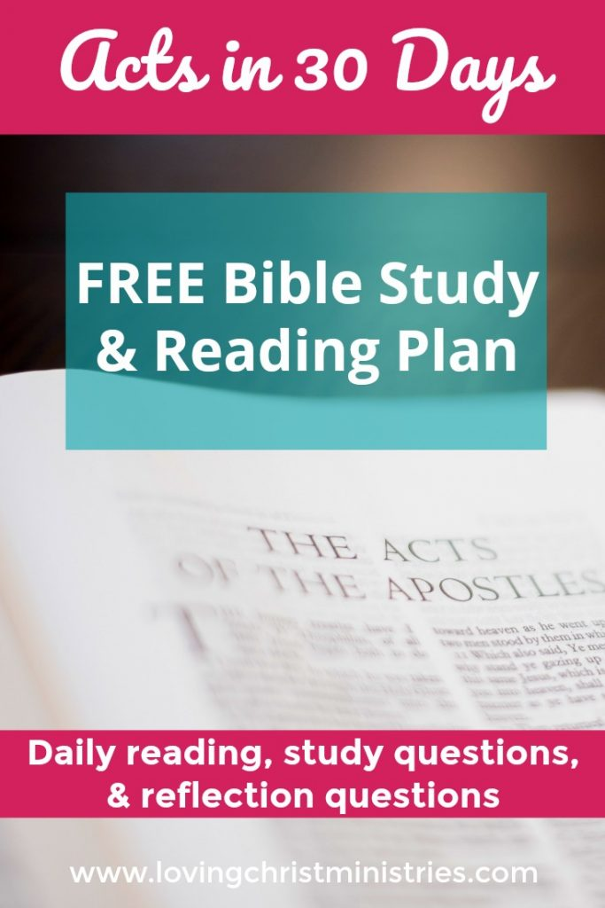 Acts in 30 Days Free Bible Study and Reading Plan