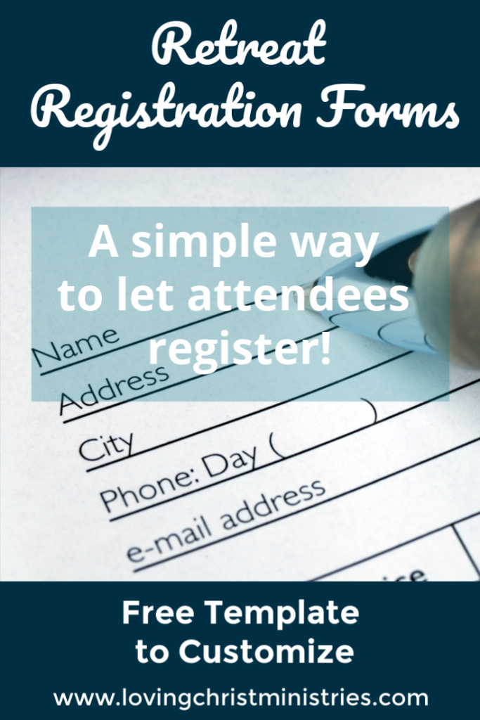 Retreat Registration Form Free Templates