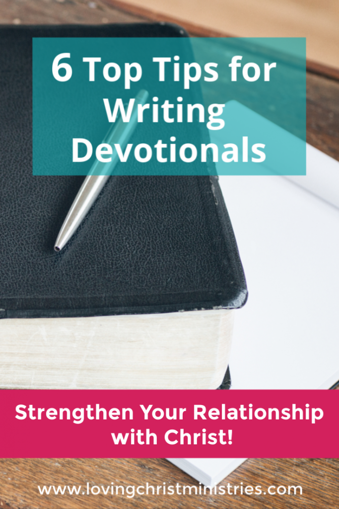 Top Tips for Writing Devotionas