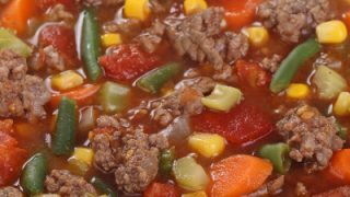 Hearty Vegetable Beef Soup for a Group