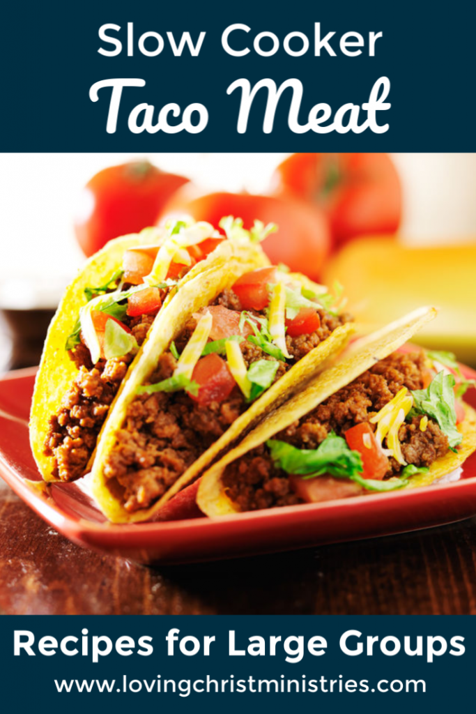Slow Cooker Taco Meat Recipe for a Large Group