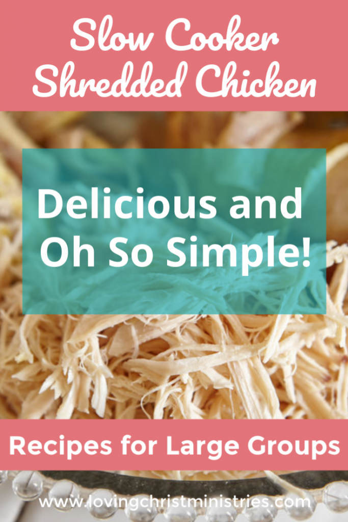 Simple Slow Cooker Shredded Chicken Recipe for Large Groups