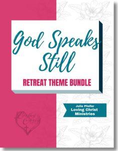 image of God Speaks Still Christian Women's Retreat Theme cover