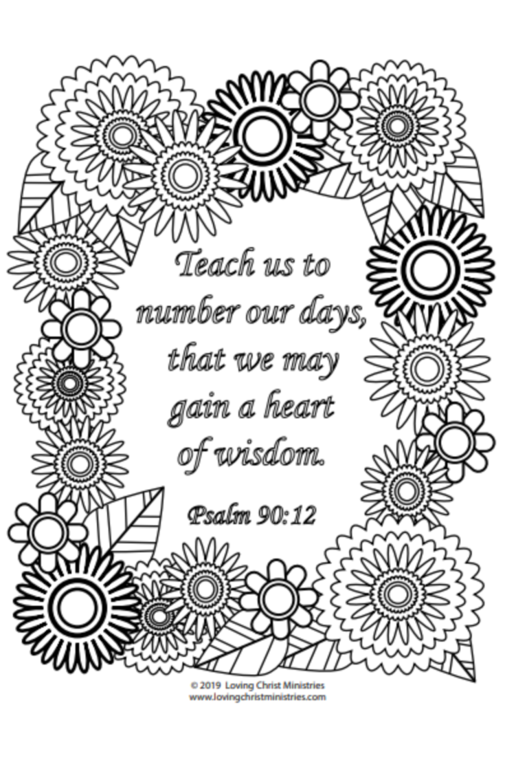 Gain A Heart Of Wisdom Coloring Page A Loving Christ