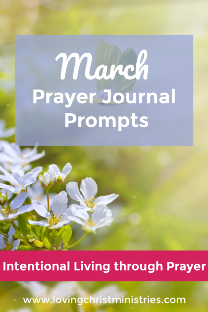 March Prayer Journal Prompts