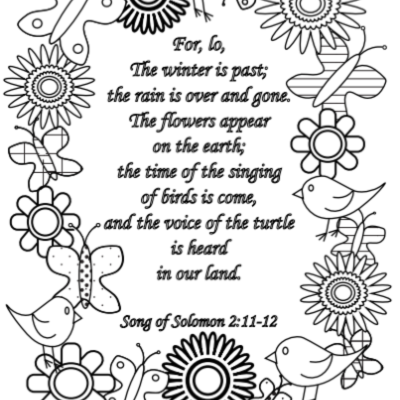 Free Song of Solomon Spring Coloring Page