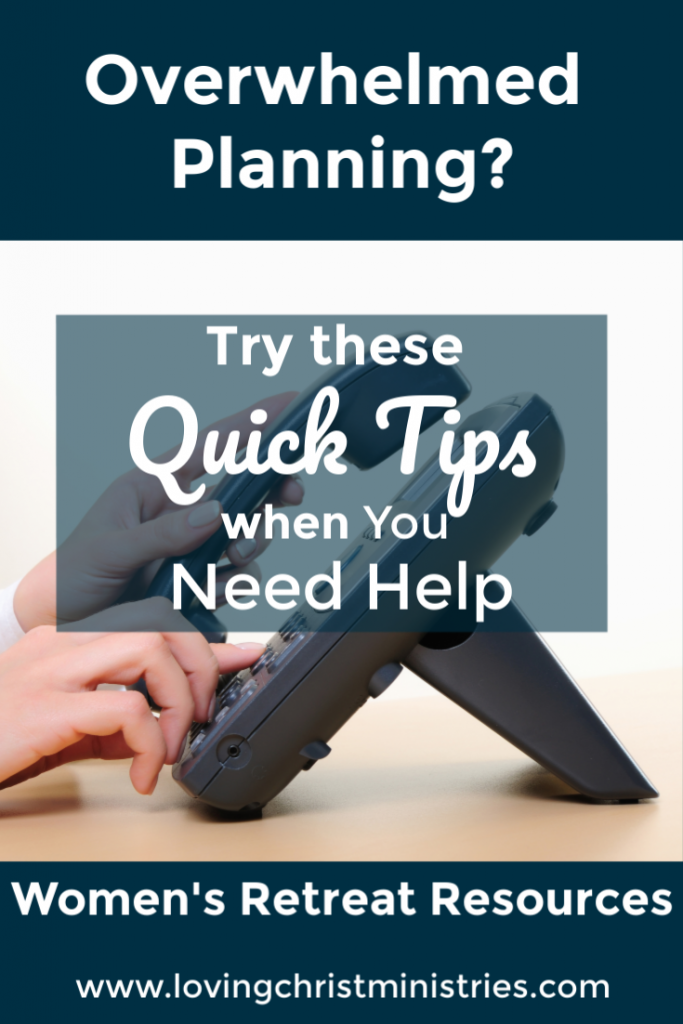 Tips for when You Need to Ask for Help on Retreat Planning
