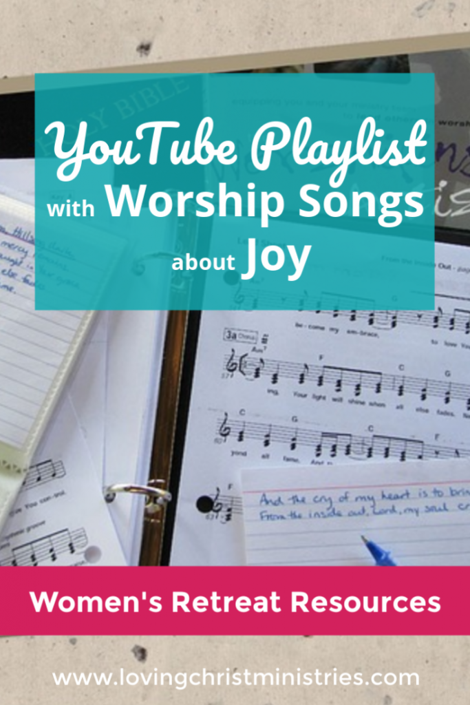 YouTube Playlist with Worship Songs about Joy