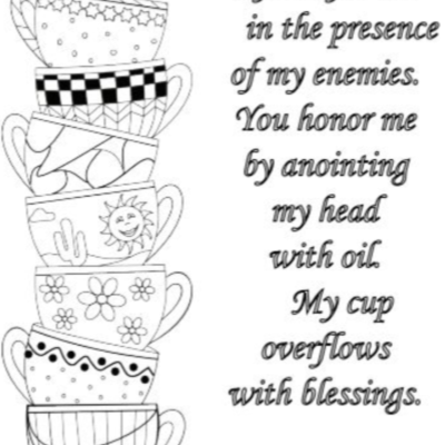 Cup Runneth Over Free Coloring Page