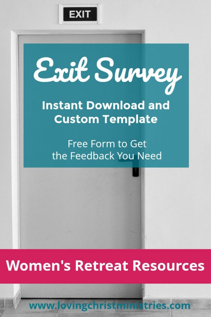 Exit Survey Download for Women's Retreats