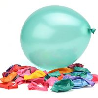 100 Premium Quality Balloons: 12 Inch Assorted Color Helium and Air Balloons for Birthdays and Events by Nexci
